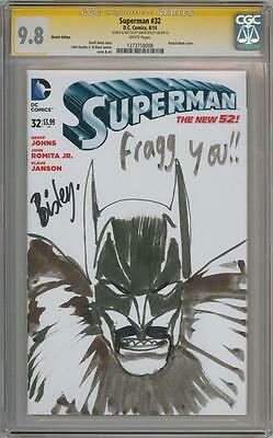 Superman #34 Cgc 9.8 Signature Series Signed Simon Bisley Batman Sketch Movie