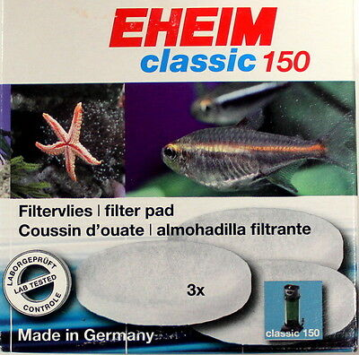 Eheim 2616115 Media Fine Filter Pads for Classic 150