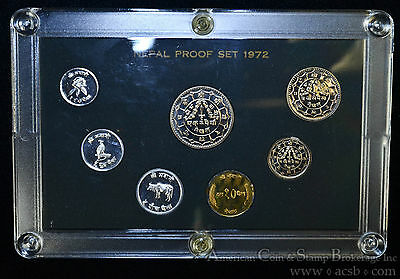 Nepal Proof Set 1972 KM#PS5 Official 7 Coin Set 3943 Minted.