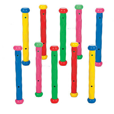 Intex Underwater Play Sticks Swimming Pool Sinking Dive Toys Pack of 10 Sticks