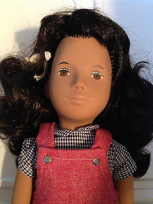 Sasha Trendon Made in UK #111 Red Pinafore Brunette Doll MIB w/metal tag BEAUTY
