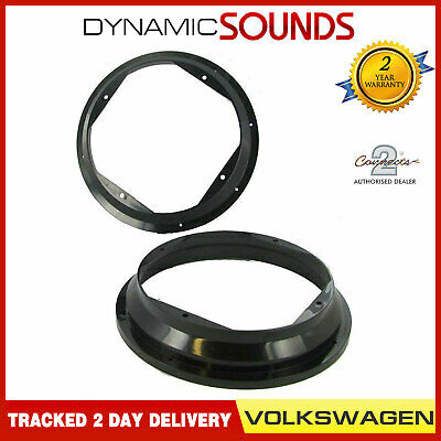 CT25VW02 Front Door Car Speaker Adaptors Rings 20cm 200mm For VW Golf 1997-2004
