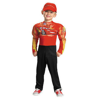 Disney's Cars Lightning Mcqueen Classic Boys Muscle Costume | Disguise 27237