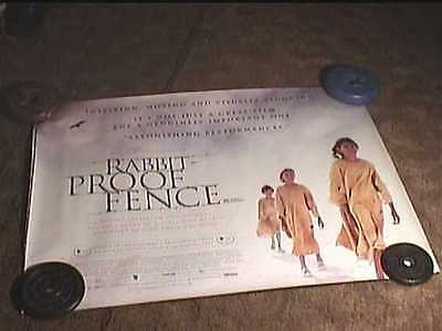 RABBIT PROOF FENCE ORIG BRITISH QUAD 30x40 MOVIE POSTER ROLLED DS INDIE FILM