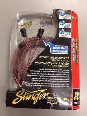 Stinger 4000 Series Audiophile 17' 2 Channel RCA Interconnects Cable SI4217C