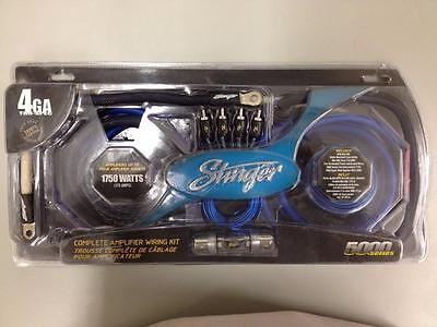 Stinger SK6641 4GA Complete Pure Copper Wiring Kit w/ RCA and Speaker Wire