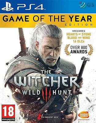 The Witcher 3 Wild Hunt Game Of The Year Edition PS4 GOTY * NEW SEALED PAL *