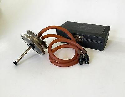 Antique Medical 1800s Phonendoscope Stethoscope Bazzi & Bianchi Cased Instrument