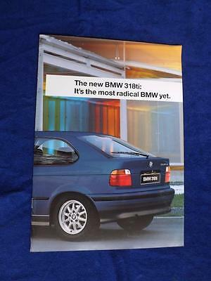 BMW 318ti SALES BROCHURE 1994 LUXURY CAR SPECIFICATIONS