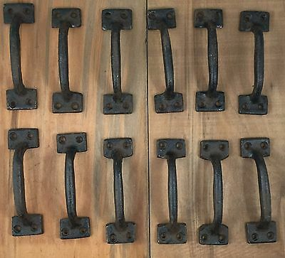 Cast Iron Gate Door  Handle Pull Set of 12 Drawer or Cabinet Pull