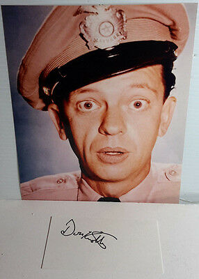 Barney Fife TV 8x10 Photo w Signed Index Card by Don Knotts-(LHAU-240)