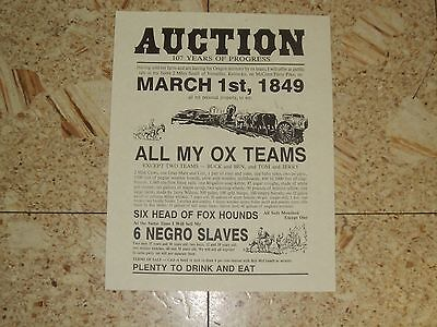 History Valuable Slave  AUCTION Poster Teaching and collectible