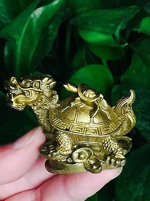 Collectables tibet vieux laiton richesse sculpture statue de dragon