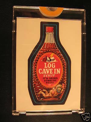 1973 Topps Wacky Packages Series 2 Proof Log Cave-In