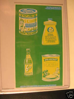 1969 Topps Wacky Packages Ads Proof Card 4 in 1 Skimpy