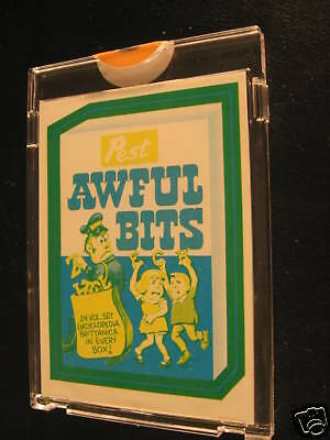 1973 Topps Wacky Packages Series 2 Proof Awful Bits