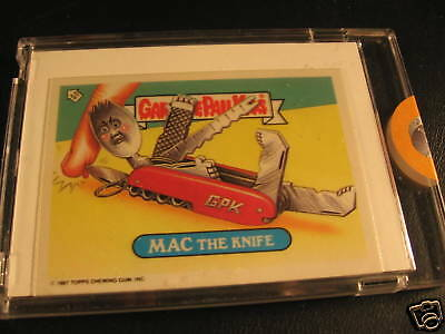 1987 Topps UK Garbage Pail Kids Proof Mac the Knife