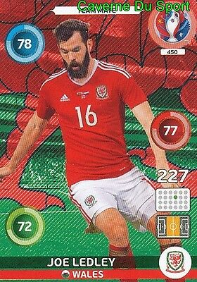 450 Joe Ledley Wales Card Adrenalyn Euro 2016 Panini