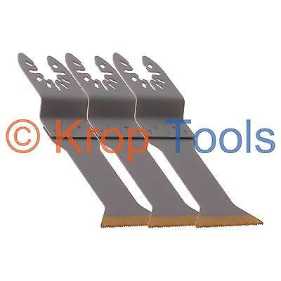 3 Multi Tool Blades Black & Decker DeWalt 44mm HSS Titanium by KROP