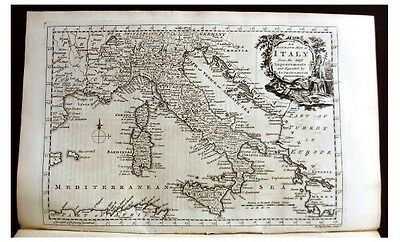 1768 Addison -  ITALY - SWITZERLAND - FRANCE - With Map
