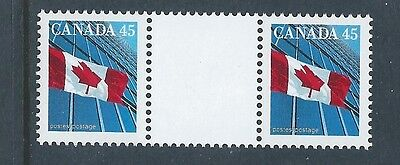 Canada #1362i Gutter Pair Variety MNH **Free Shipping**