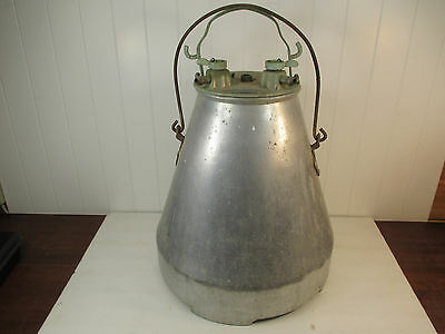 Vintage Aluminum Vacuum Milking Can Canister Barn Find Steampunk Rocket Shaped