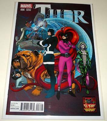 THOR # 6  Marvel Comic May 2015  NM 1:50 INHUMANS 50th Anniversary VARIANT COVER