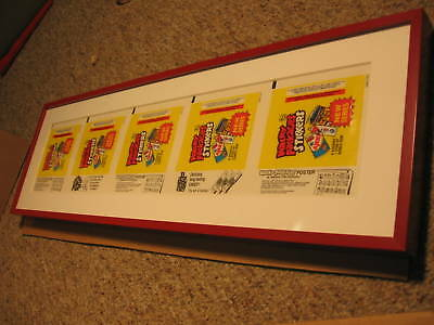 1979 Topps Wacky Packages Repeating Wrappers Framed