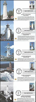 #4146-50 Pacific Lighthouses MPG FDC Set (15020074146-50001)