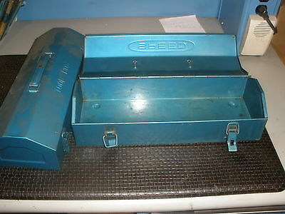 "Metal Tool Boxes 2 Pcs. 4"" x 6 x 14"""