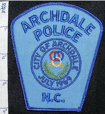 North Carolina, Archdale Police Dept Patch