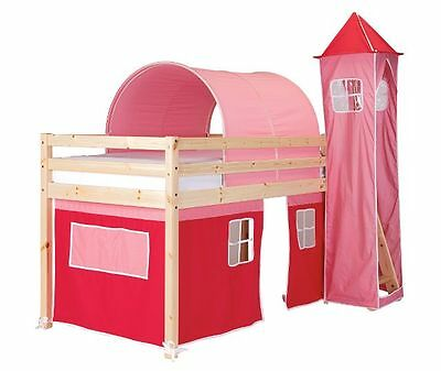Pink and Fushia tent, tower and tunnel for a Wooden Midsleeper