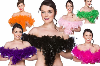 Ladies Feather Boas Rocky Horror Halloween Fancy Dress Accessory Boa
