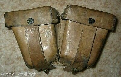 Original WWII Mosin Nagant leather ammo pouch army equipment