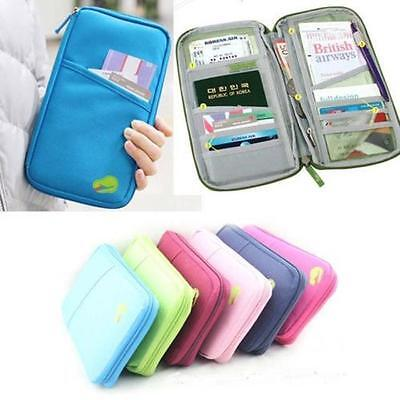 Travel Passport Credit ID Card Holder Cash Wallet Organizer Purse Wallet Bag uf