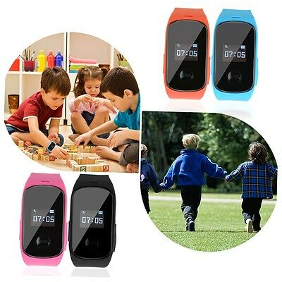 Kids Aged Smart Watch Anti-lost SOS Call Locator GPS LBS Tracker Safe GH