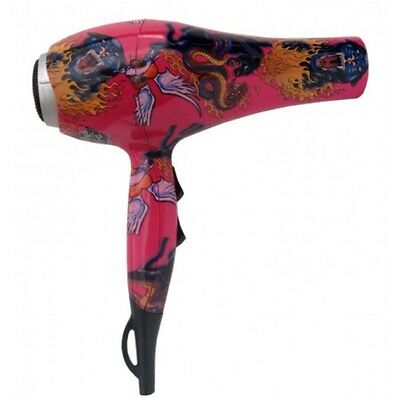 BLOW INK HAIR DRYER by InMood Professional 2000 Watts with 2 Nozzles Pink Tattoo