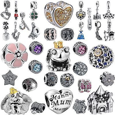 2018 New Brand Cute Bead Charms Fit Girl 925 Silver Bracelets Hot Sale Jewelry