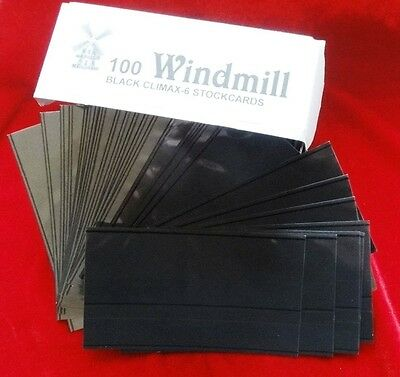 STOCKCARDS Windmill Climax BOX of 100 Two Strip Black Stockcards