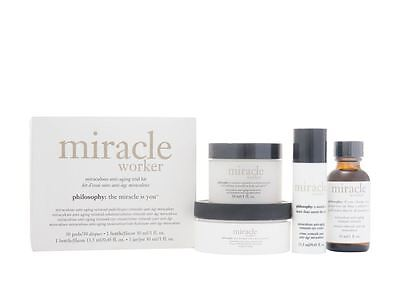 Philosophy Miracle Worker 4 Piece Trial Skin Care Gift Set For Her Women