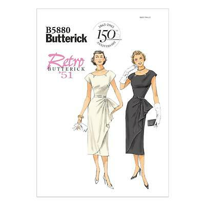 Butterick Sewing Pattern Misses' Retro Vintage 1951 Dress Sizes 6 - 22 B5880