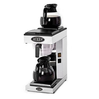 Queen Commercial Filter Coffee Brewing Machine DUAL heating plate + 2 glass jugs