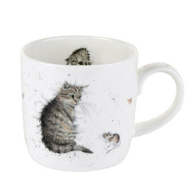Royal Worcester Wrendale Cat & Mouse Mug Gift Boxed NEW