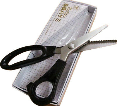 Stainless Steel Professional Pinking Shears ZigZag Scissors 235mm 9 Inch Scallop
