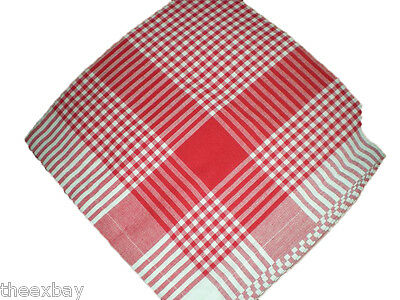 50's RETRO Vintage Style MID CENTURY MODERN Tablecloth RED GINGHAM