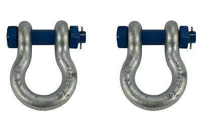 "2 Lot 7/8"" 6.5 TON D Ring Shackle Screw Pin Clevis Safety Bolt G2130 Style"