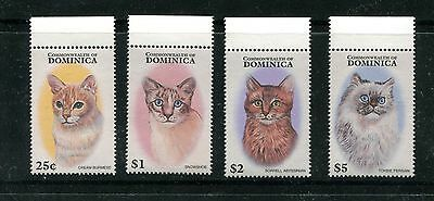 Dominica 1937-40, 1997 Cats, Mnh (Id5179)