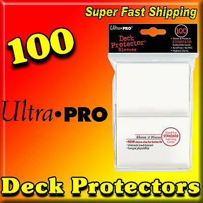100 Ultra Pro Solid White Standard Size Sleeves Card Deck Protectors 82690-100