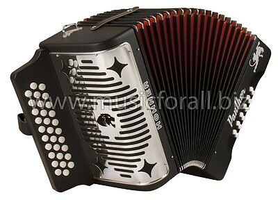 Hohner Panther GCF Button SOL Accordion Acordeon +T-Shirt MAKE OFFER SHIPS TODAY