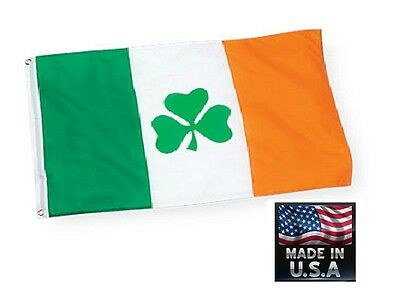 IRISH SHAMROCK IRELAND Clover In/Outdoor SuperPoly FLAG BANNER Flags*USA MADE
